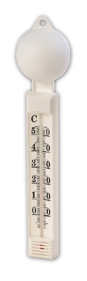 Thermometer drijvend witte bol